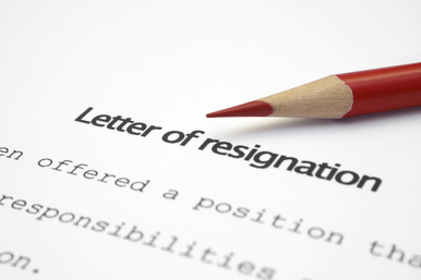 Construction Driller Resignation Letters